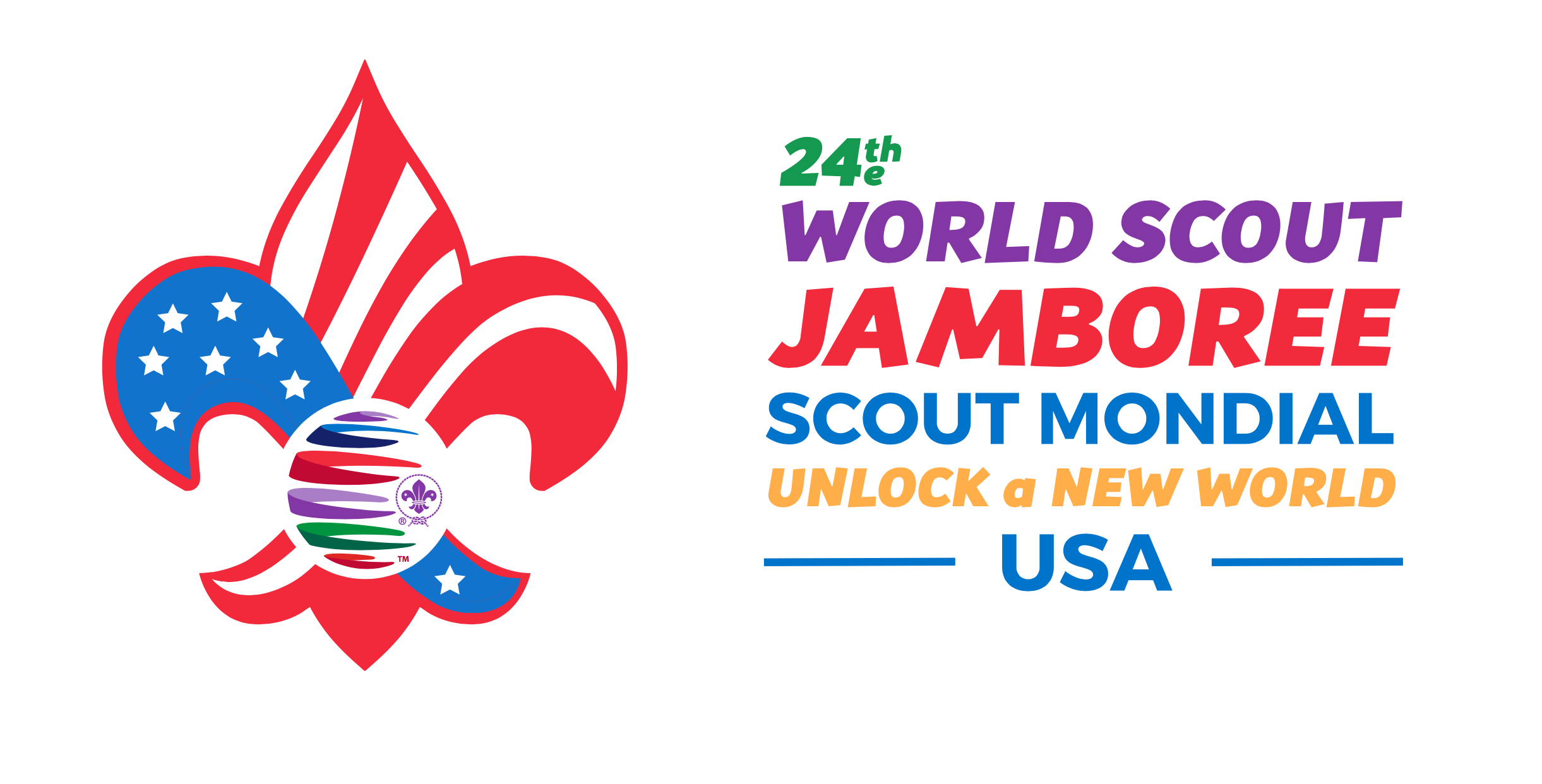 2019 24th World Boy Scout Jamboree Luggage Tag USA Contingent WSJ BSA Mondial