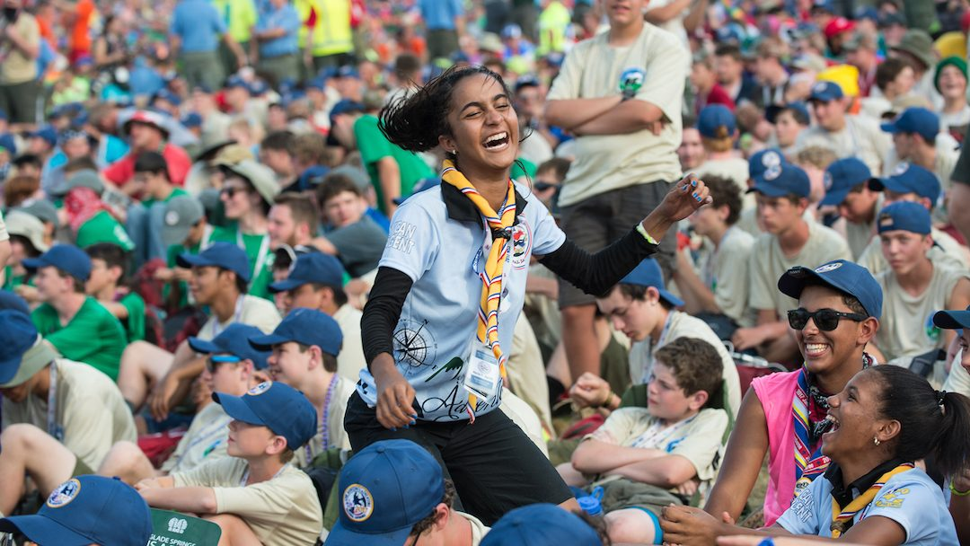 Young Women at the World Scout Jamboree